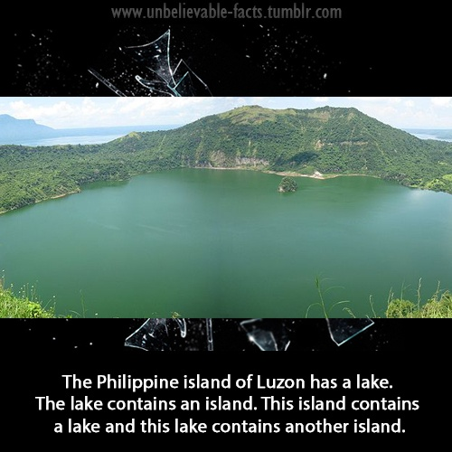 The Philippine Island Of Luzon Has A Lake The Lake Contains An Island This Island Contains A