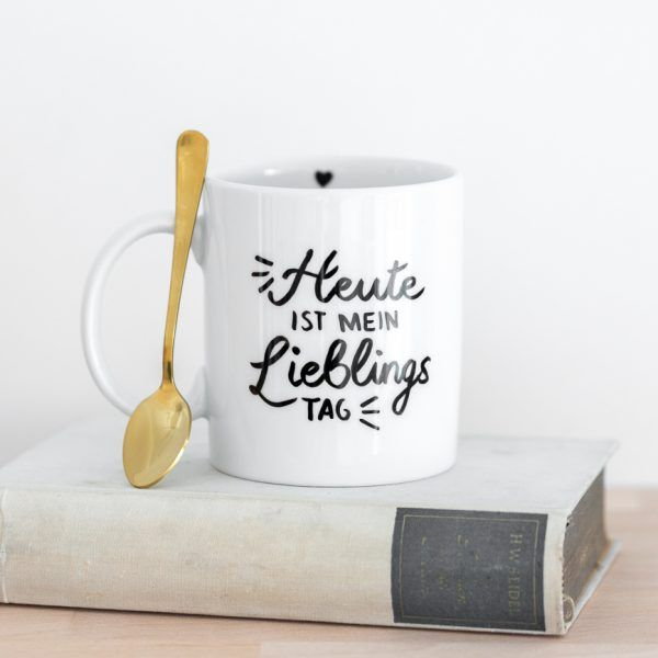 Porzellantasse 'Heute ist mein Lieblingstag' • Onlineshop www.prettypott.de #lieblingstag #tasse