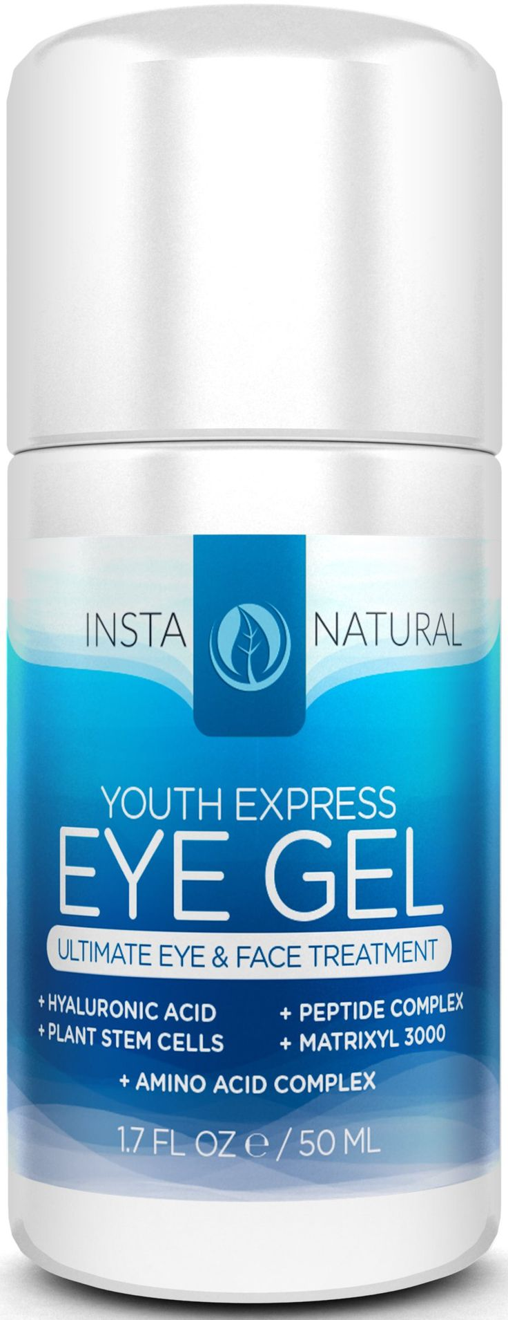 InstaNatural THE BEST Eye Cream For Dark Circles, Puffiness, Wrinkles & Bags - Best Under Eye Gel For Eye Bags, Crows Feet and Fine Lines -All Natural- 1.7 Ounces