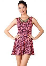 Something Borrowed Petite  Something Borrowed Petite Tribal Dresses Shocking Pink Navy