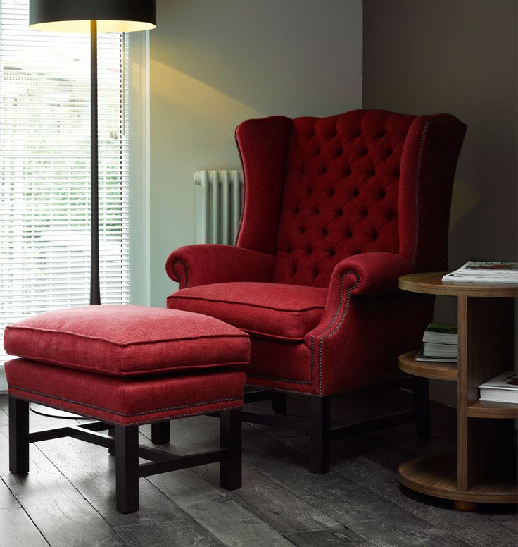 "Chesterfield Sessel ""San Diego"" rot 