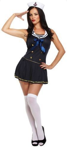 New Adult Female Sexy Sailor Fancy Dress Costume - One size approx size 8-14 #unbranded #dress