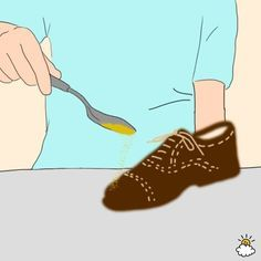 Awesome tips for cleaning, deodorizing, stretching, and in general helping your feet look and feel better in your shoes!