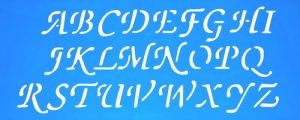 Verfsjabloon grote letters