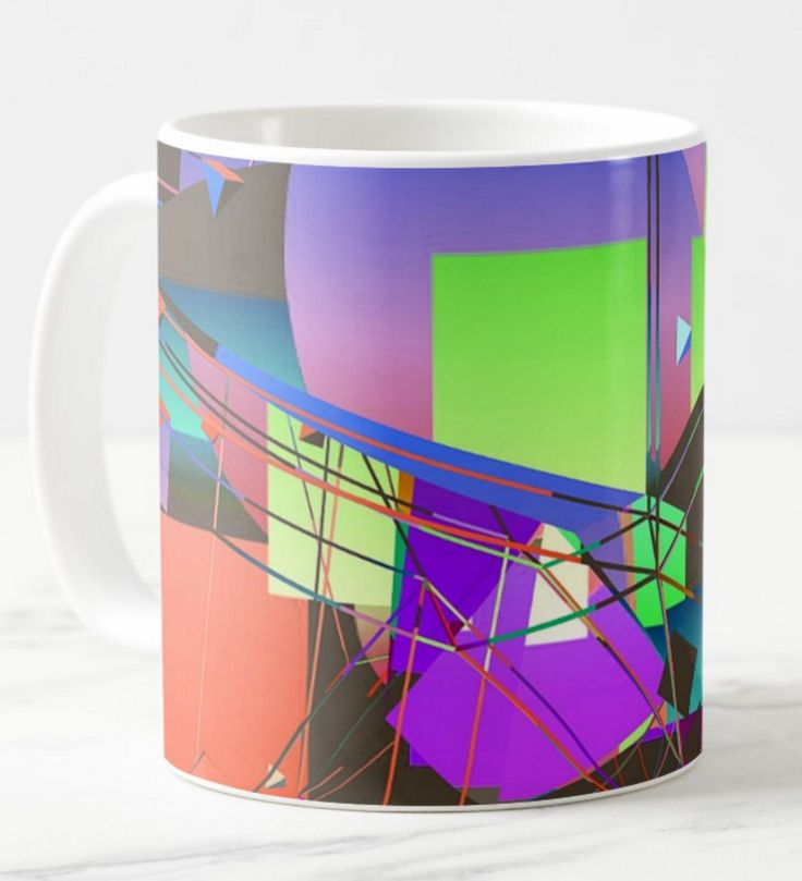 I remember when we were kids we used to have hours of fun playing with our kaleidoscopes. Then it occurred to me, why not put some of that fun on to a coffee  mug! What do you think? Colour in the kitchen is good.