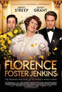 A wealthy New York heiress (Maryl Streep) attempts to become an opera singer despite her horrible singing voice. Hugh Grant and Rebecca Ferguson co-star in this biopic directed by Stephen Frears.
