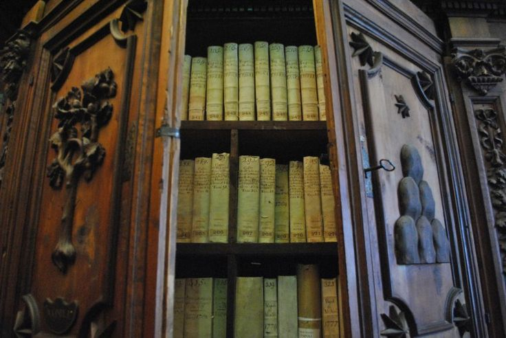 Books in a cabinet in the Vatican Secret Archives. (Photo by Vatican Secret Archives via CNS)
