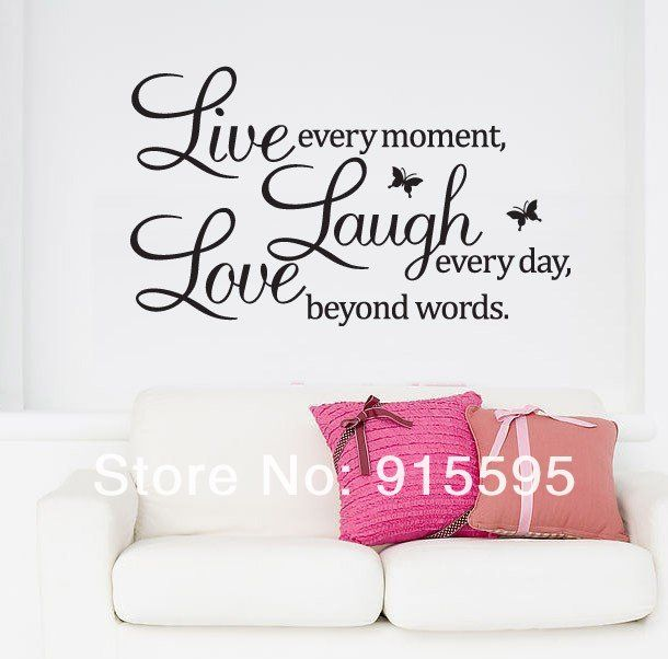 Provide Diy Live Laugh Love Quote Vinyl Decal Removable Art Wall Stickers  Home Decor Aaabpy In High Quality, Cute Big Stickers For Walls And  Classical Big ...