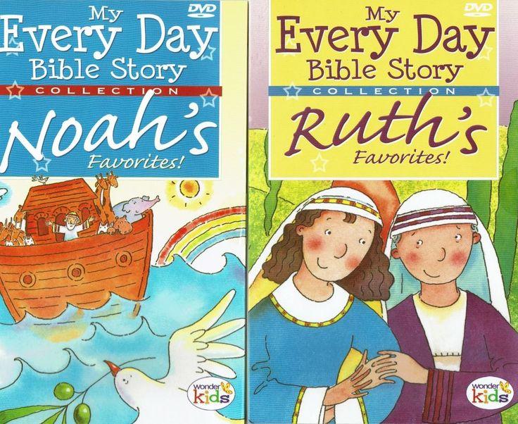 Children's Bible Story 2 DVD Set Women Ruth Noah's Ark Old Testament Jesus Adam #WonderKids
