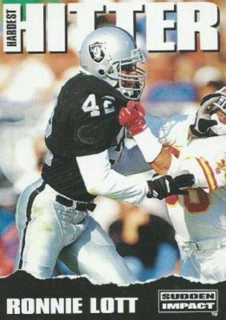 Ronnie Lott Oakland Raiders Los Angeles Raiders Silver and Black