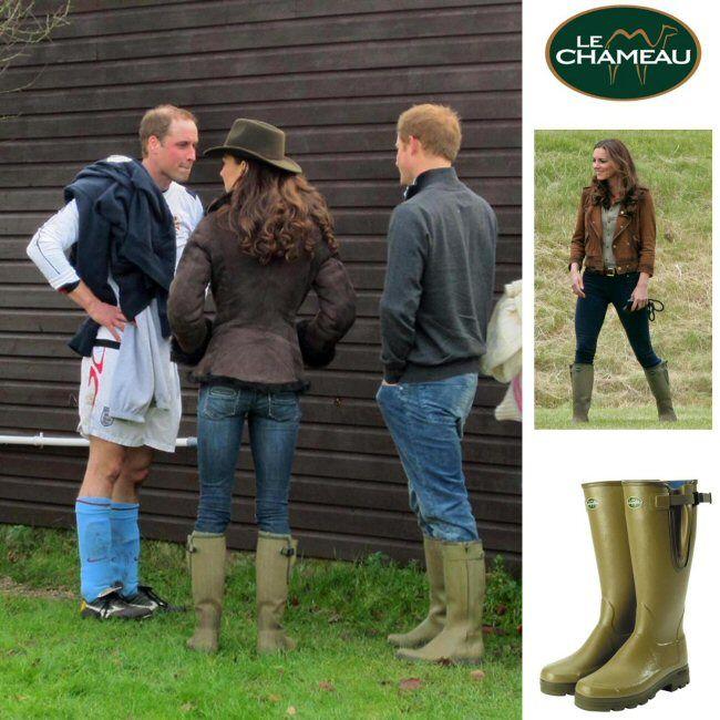 Kate Middleton Photos Wearing Le Chameau Wellington Boots