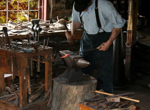 Blacksmith at work - Upper Canada Village