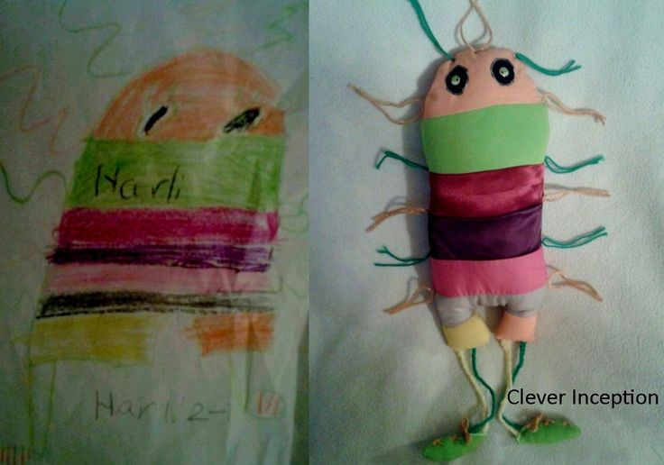 turning children's art into soft sculptures: Stuffed Toys, Turning Drawings, Kids Drawings, Kid Drawings, Turning Children, Child Drawings, Children Drawings, Children Art, Child Art