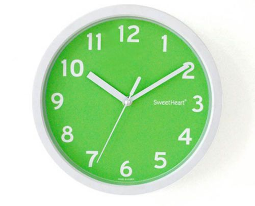 Noiseless Silent Smooth Home Room Interior Color Wall Clock Green
