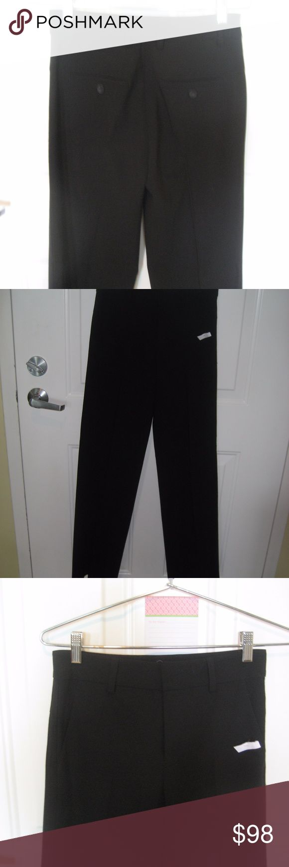 """Vince Tuxedo Like Flat Front Trouser Pants Vince Tuxedo Stripe Pants Waist 28"""" Hip 36"""" (Approximate) Thigh 20"""" Inseam 33"""" 56% Viscose 43% WOOL 1% Spandex It is difficult to get the detail in pics but there is a tuxedo like stripe down either side. GORGEOUS!! NEVER WORN Vince Pants Trousers"""
