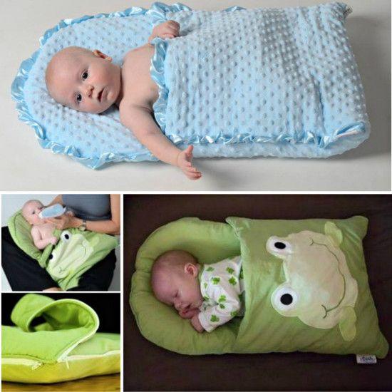DIY Pillowcase Sleeping Bag for Baby                                                                                                                                                                                 More