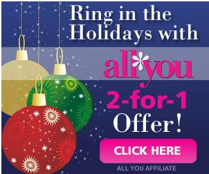 Still Available! All You Magazine Deal: $9.96 each wyb 2 - http://www.livingrichwithcoupons.com/2013/12/still-available-all-you-magazine-deal-9-96-each-wyb-2-2.html