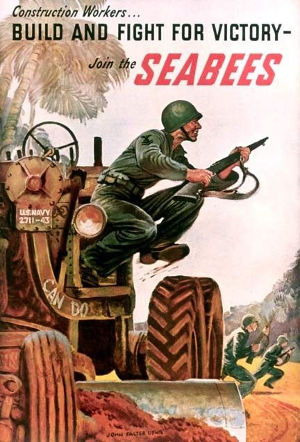 "03/05/1942 - The U.S. Navy's Construction Battalion (CB) personnel were officially designated ""Seabees""."