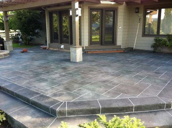 Stamped Concrete Patio Designs | CSS EMULSION™ Concentrated Concrete Sealer