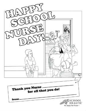 have your child color this free printable for school nurse day