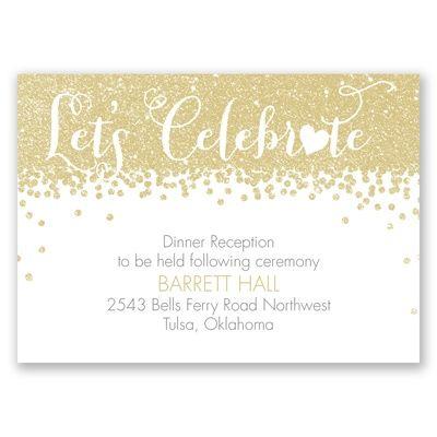 Glamorous Glitter   Wedding Invitation   Heart, Faux Glitter, Chic At  Invitations By Davidu0027s