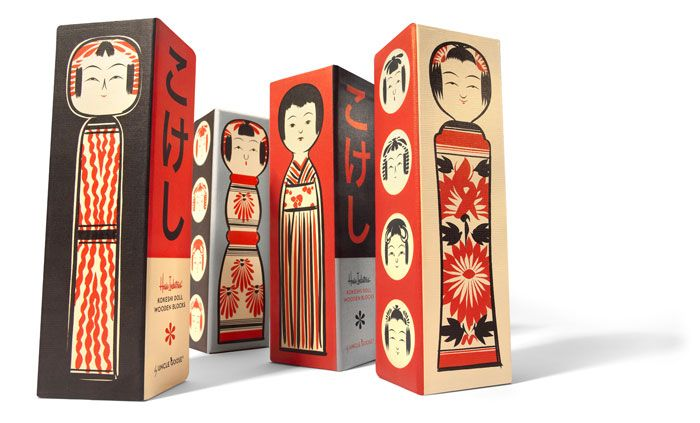 Kokeshi doll Wooden blocks package