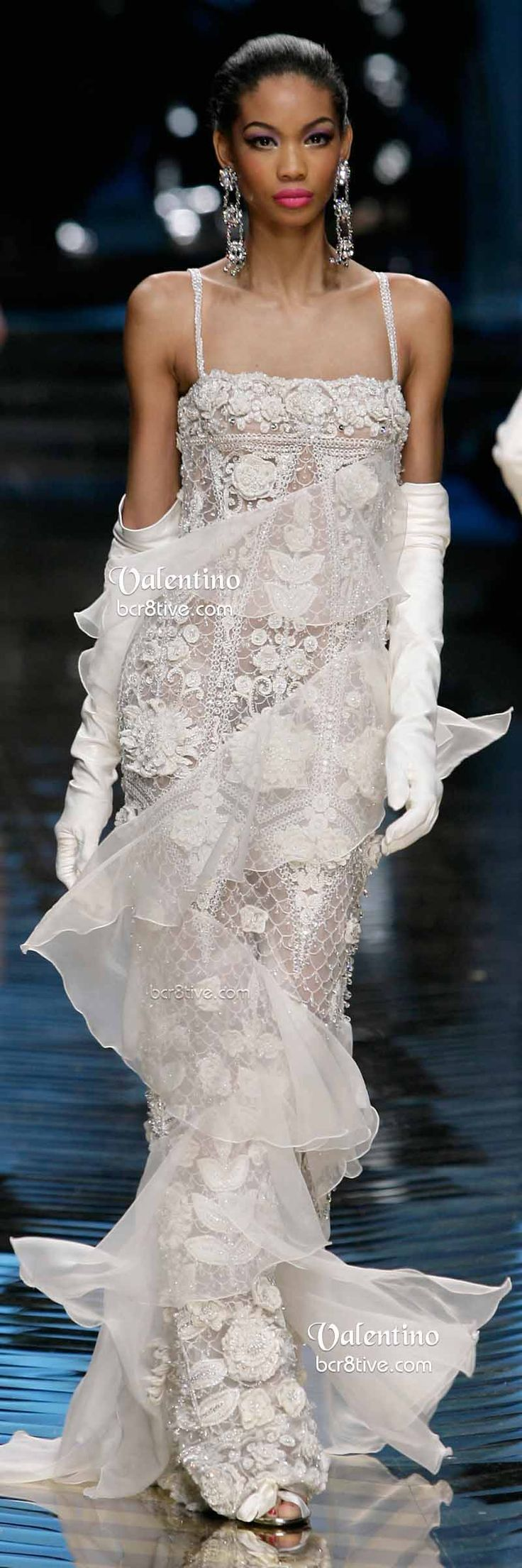 Exquisite Valentino Lace Evening Gown - Farewell Valentino Show 2014
