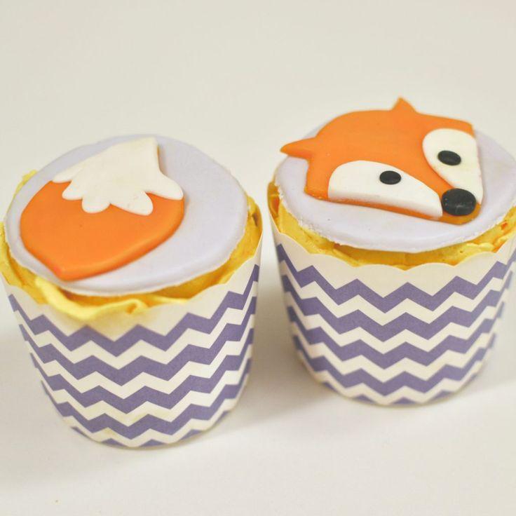 fall fox cupcakes