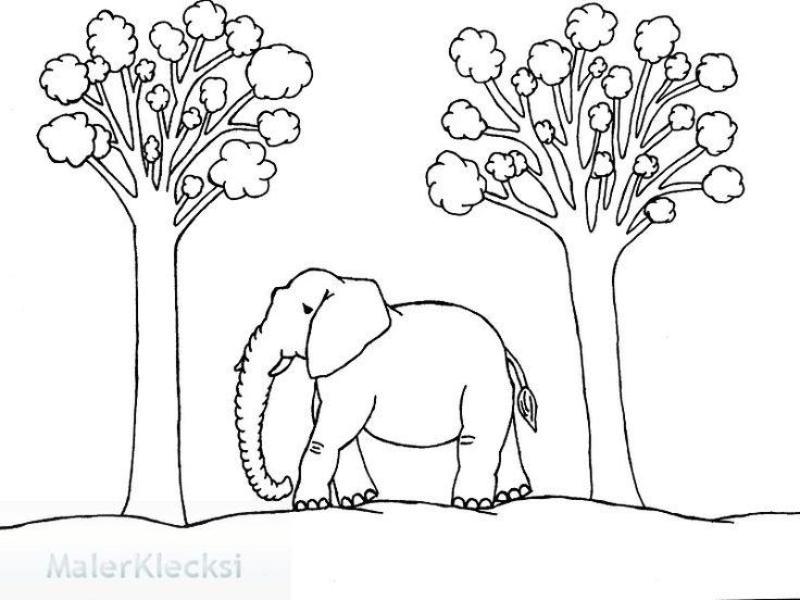 ausmalbild für kinder elefant  ausmalen ausmalbilder