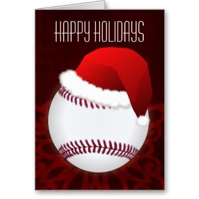 35 best sports holiday greeting cards images on pinterest santa baseball christmas holiday baseball softball sports greetings cards red m4hsunfo