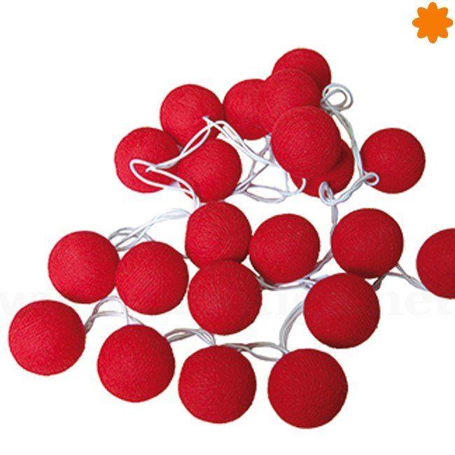 """Llamativa guirnalda de bolas luminiscentes rojas """"La Pasión"""""""