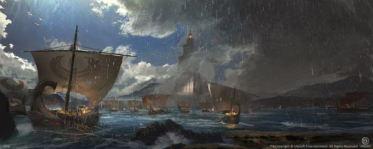 ArtStation - AC: Origins Alexandria Lighthouse, Natasha Tan