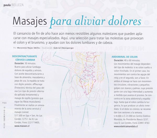 #masajes para aliviar dolores @revista_paula