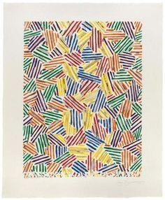 "Jasper Johns's ""Cicada"" (1979), a screenprint from 16 screens."
