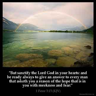 1 Peter 3:15 | King James Version Bible (KJV Bible)