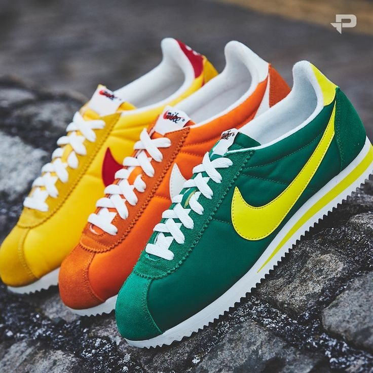 new product 29a73 9d5fa ... green yellow  nike cortez nylon ...