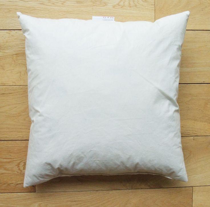 Coussin en microfibre sensation duvet et extérieur en coton 45x45 cm