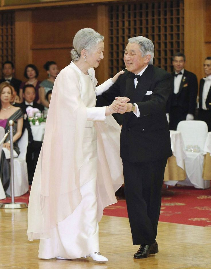 Emperor Akihito and Empress Michiko attended a charity ball in Minato-ku, Tokyo to celebrate the 60th anniversary of the International Welfare Association