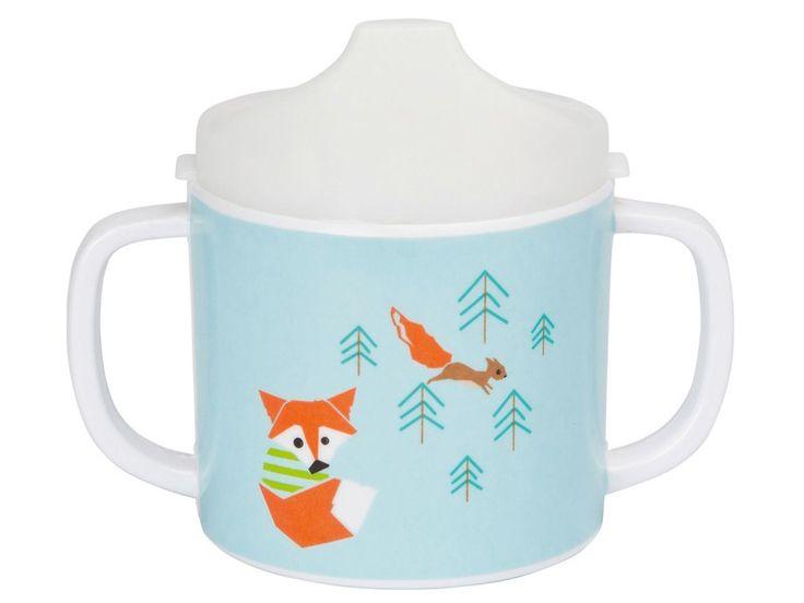 Lässig Babytasse Fuchs. Mit diesem schönen Trinklernbecher  ist der Durst schnell gelöscht. Die zwei Griffe sorgen für einen sicheren Halt beim Trinken.
