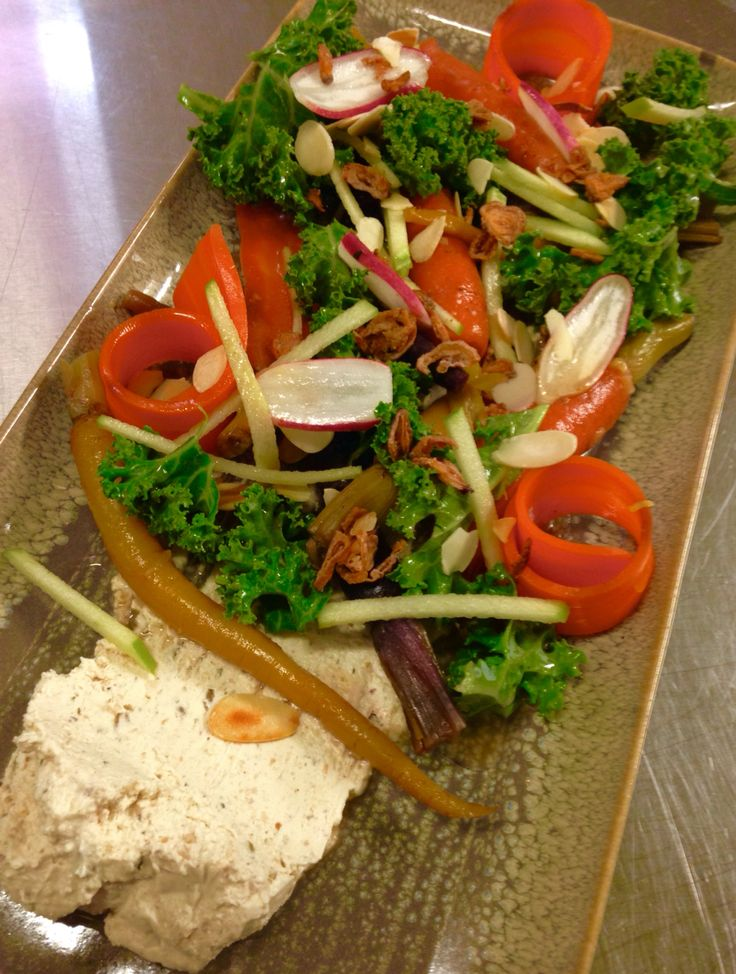 Carrot And Kale Salad Walnut Labnae and Thyme Honey Dressing...