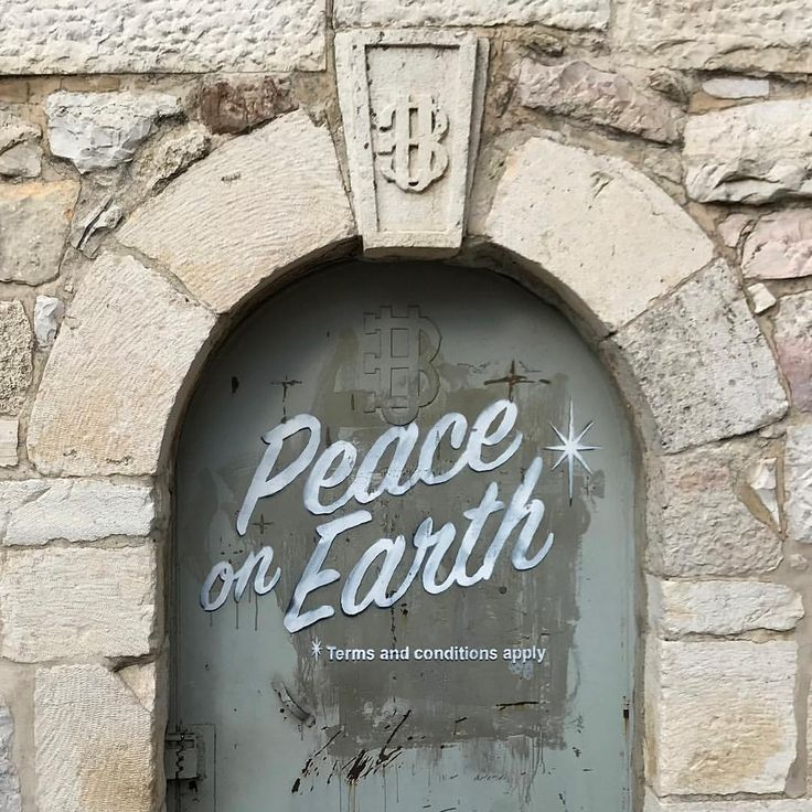 "96.1k Likes, 561 Comments - Banksy (@banksy) on Instagram: ""Bethlehem 2017. #peaceonearth"""
