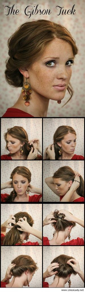 The Gibson Tuck - LikeaLady.net  -girl hair styles                                                                                                                                                     More
