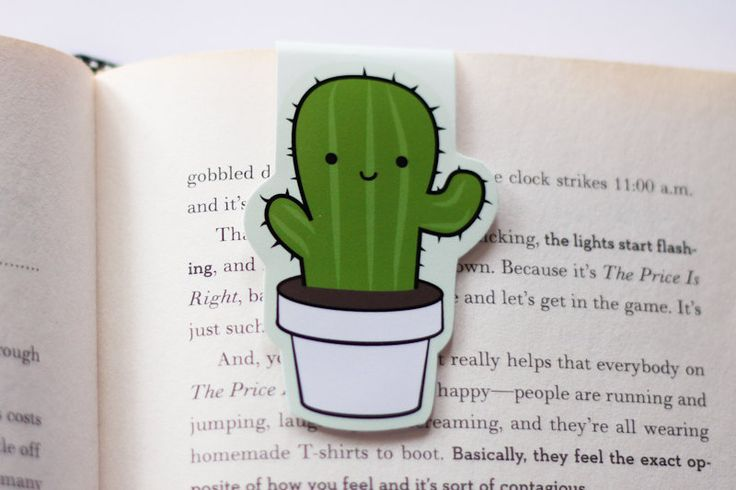 Cactus Magnetic Bookmark (Jumbo) (6.00 CAD) by craftedvan
