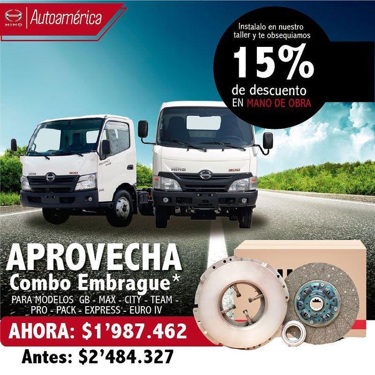 Compra un combo de Embrague para tu Hino en Autoamérica para GB, MAX, CITY, TEAM, PRO, PACK, EXPRESS http://ow.ly/YKi630efX9y
