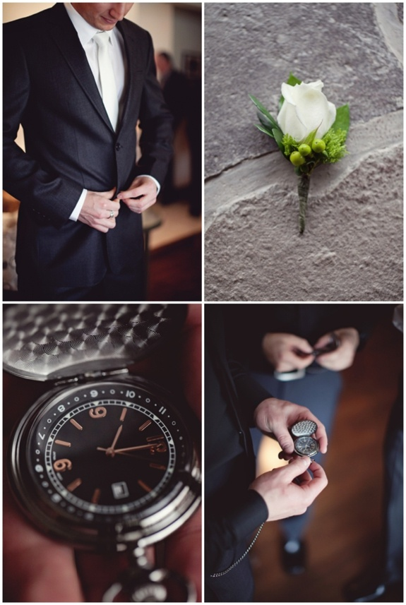 Love these detail shots that tell the story of the groom on his wedding day. Throw in a few full body shots and you're golden. **Notice how he's facing window light