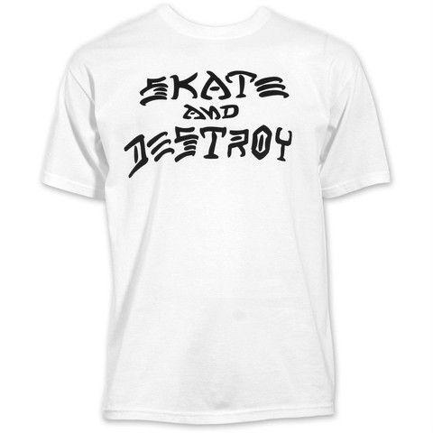 THRASHER SKATE AND DESTROY T-SHIRT WHITE