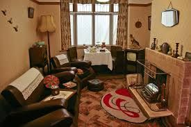 Image result for 1950's front room