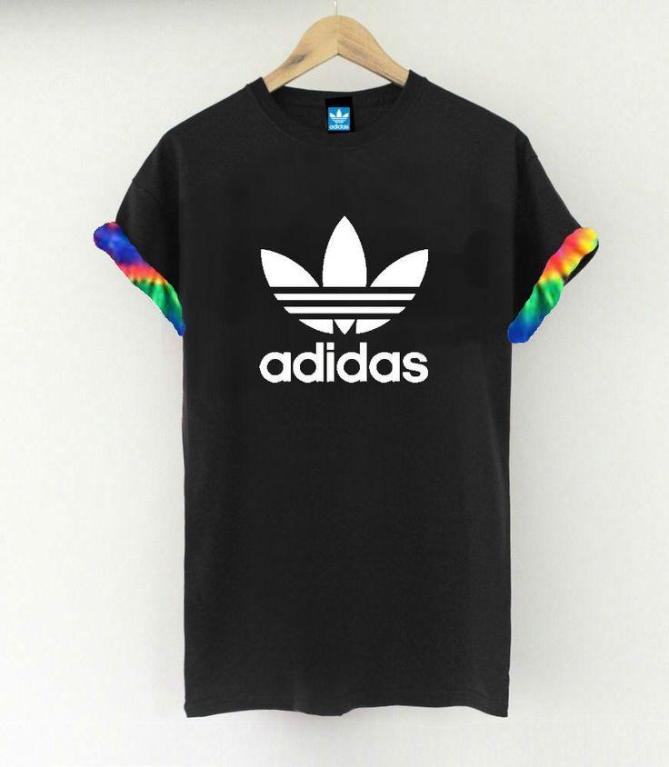 Unisex Authentic Adidas Originals Custom Cut & Sew Neon Tie dye Cuff Tee by SABAPPAREL on Etsy https://www.etsy.com/listing/216819608/unisex-authentic-adidas-originals-custom