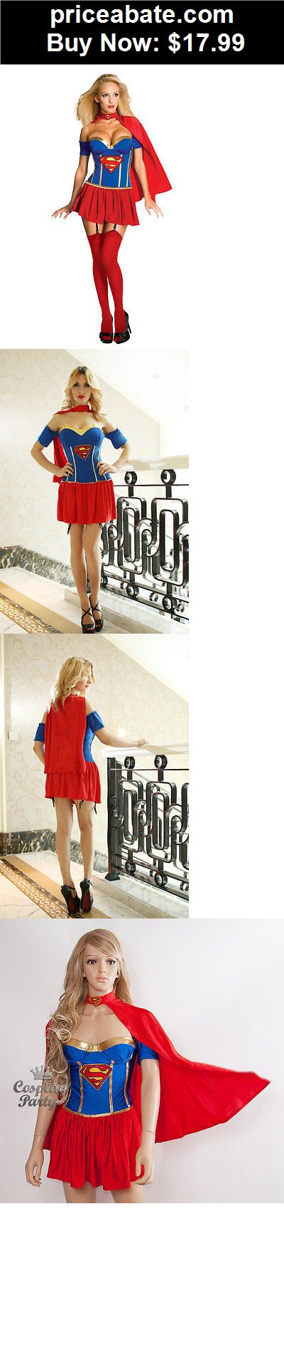 Women-Costumes: Sexy Supergirl Superwoman Dress Outfit Costume for Cosplay & Halloween Party NEW - BUY IT NOW ONLY $17.99