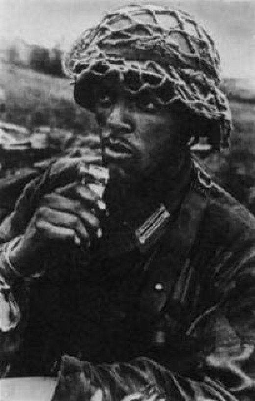 An African-Muslim volunteer in the German Army